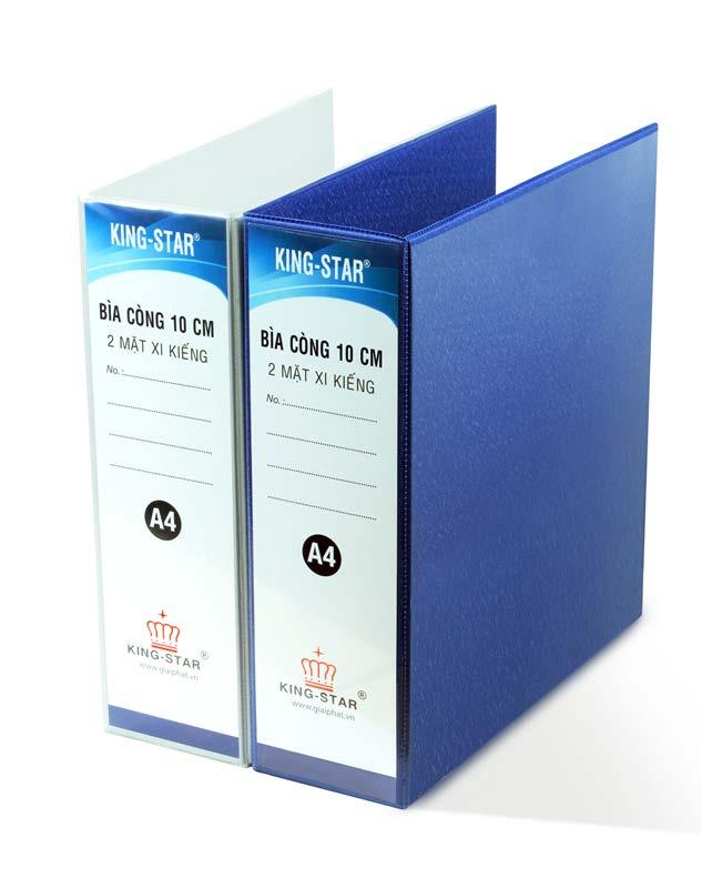 Bìa 2 còng D 10cm xi kiếng A4