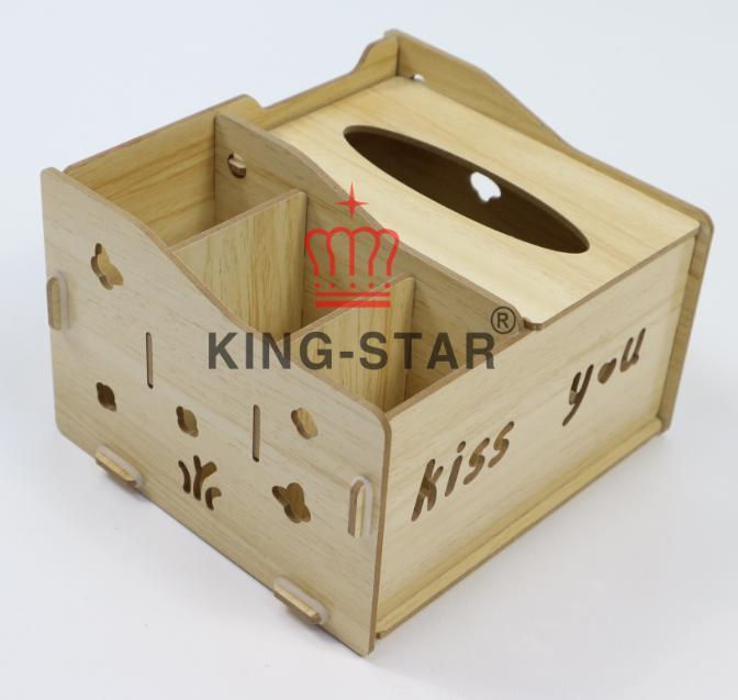 Hộp gỗ đựng khăn giấy KS-03